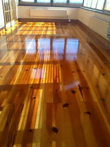 Beautiful red deal floor