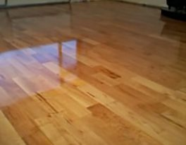 Floor sanded and varnished